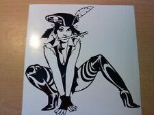 pirate tinkerbell fairy bad girls  vinyl car sticker wall art laptop novelty