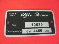 Targhetta identificativa ALFA ROMEO GIULIA 1300 TI (IGM 4469 OM)
