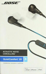 Bose QuietComfort 20 Headphones (iOS) Black Model: BOSE QC20 (IOS) Brand NEW