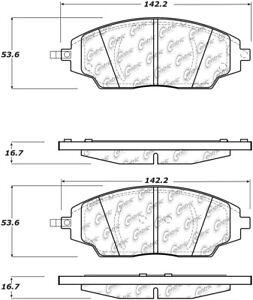 Frt Ceramic Brake Pads Centric Parts 103.17020