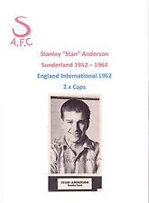 STAN Anderson Sunderland 1952-1964 ORIGINALE A MANO FIRMATO QUADRO taglio