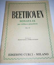 BEETHOVEN SONATA IX OP 47 PER VIOLINO E PIANOFORTE CURCI