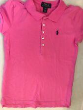 Ralph Lauren Polo L 10-12 Girls Top Pink w Blue Horse Logo