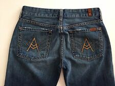 "7 for all Mankind womens jeans straight let ""A"" Pockets stretch size 28  A-20"