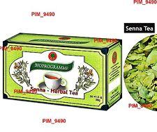 SENNA TEA* - Weight Loss, Colon Cleansing, Laxative, Detox, BIOPROGRAMME 20 bags