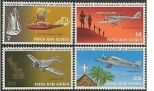Papua New Guinea 1972 AVIATION (4) Unhinged Mint SG 220-3