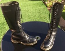 Vintage Dr Martens 1420 black smooth leather boots UK 7 EU 41 Made in England