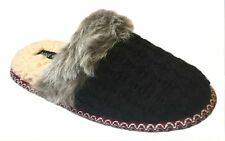 Nine West Women's Knit Memory Foam Scuff Slippers - Black / X-Large (11-12)