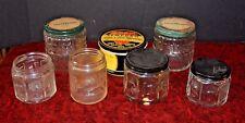 Lot of 7 Antique Brushless Shaving Cream Jars Burma Shave Barbasol Krank's Lucky