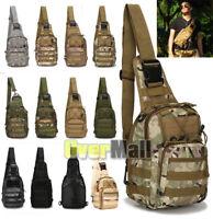 Molle Tactical Sling Chest Bag Assault Pack Messenger Shoulder Bag Backpack Gift