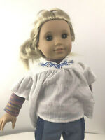 "Julie American Girl Doll in Original Meet Outfit Rare Retired 18"" Hippie Outfit"