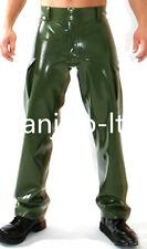 Latex Rubber Gummi Metal green Handsome Fashion Pants Size XS-XXL
