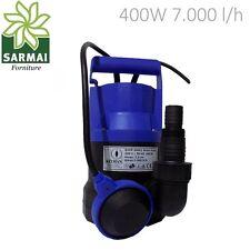 Pompa Sommersa HP 0,5 Elettropompa corpo in PVC 400W per acque chiare pulite 8m