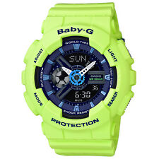 Casio Baby-G BA-110PP-3A Punching Series Neon Green Strap with Blue Dial Watch