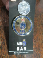 Royal Australian Navy Medallion 48mm  Australian RAAF Crest Metal