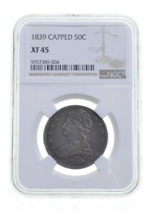 XF45 1839 Capped Bust Half Dollar - Graded NGC *4856