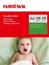 Hartwii 100 Sheets A4 220Gsm Matte Matt Double Sides Photo Paper Inkjet Print