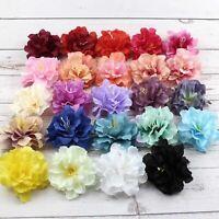 20/30/50PCS Artificial Silk Rose Peony Big Carnation Flower Heads Crafts Decor