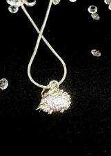 Hedgehog Jewellery Solid Silver Necklace Pendant - Statement Free Gift Bag 💕🐾