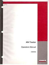 CaseIh 404 Tractor Operator's Manual
