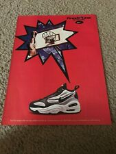 Vintage 1997 NIKE AIR PURE UPTEMPO Basketball Shoes Poster Print Ad 1990s RARE