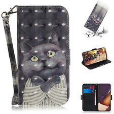 For Samsung Hot New Fashion Painted Wallet Flip Antislip Cute Phone Case Cover