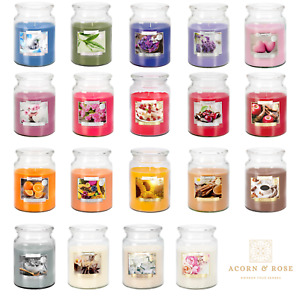 100hr Premium 18oz Scented Candle Large Glass Jar Aromatic Fragrance Home Gift
