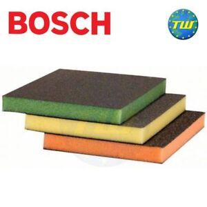 Bosch Long Life Medium Fine Superfine 3pc Foam Backed Sanding Pad Set CONTOUR