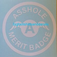 Funny Car Decal A$$Hole Merit Badge Award Trophy Car Truck Window Vinyl Sticker