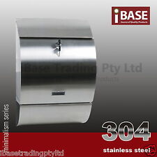 WALL MOUNT STAINLESS STEEL 304 MODENA MAILBOX LETTERBOX POST LETTER MAIL FREE