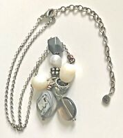 Silpada 925 Sterling Silver Pearl Brass Shell Hematite Glass Necklace N2202