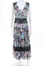 Novo Vestido Chanel Feminino Tam 38 07 C Renda Branca De Seda Graffiti plissada, acabamento em renda