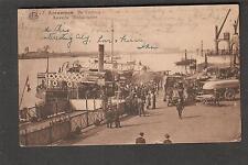 Belgium 1929 Antwerpen De Vlotbrug post card to Hotel Herrenalb Germany