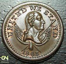 1863 Civil War Token PIE BAKERS R-3 NY630M13a -- MAKE US AN OFFER!  #O4007