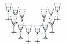 Melodia Sherry Stemmed Wine Glasses 5.5 Oz, Crystal Cut Glassware Set of (12)