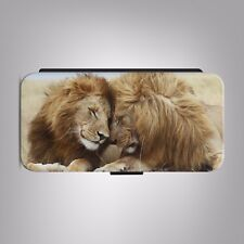 Lion Pair Predator Amazing LEATHER FLIP PHONE CASE COVER fit IPHONE SAMSUNG