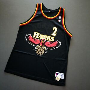 100% Authentic Stacey Augmon Champion Hawks Jersey 48 L XL Mens - mutombo