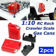 1:10 RC Rock Crawler Truck Cars Scale Accessory Gas Cans 2pcs 1 Pair Red