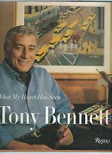"TONY BENNETT ""What my heart has seen"" 1st ed HBDJ Art, RARE - SIGNED BY BENNETT"