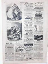 Harper's Weekly Page Civil War Cartoons Marriage Roller & Ice Skates  1862