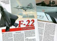 Q62 Clipping-Ritaglio 1993 F-22 Lightning II