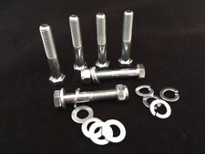 M7 Part Threaded Bolts c/w Nyloc Nuts and Washers Zinc Plated High Tensile 8.8