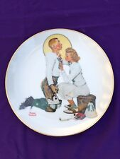 Norman Rockwell Collector Plate- The Letterman- The Danbury Mint A7302