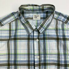 Old Navy Button Up Shirt Mens XXL Multicolor Plaid Short Sleeve Casual