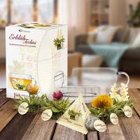 Tee Geschenkset Erblüh Teelini, Weißer Tee, 8 Erblühtee Kugeln in 4 Sorten