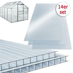 14-tlg Polycarbonat Hohlkammerstegplatten 4mm Doppelstegplatte Hohlkammerplatten