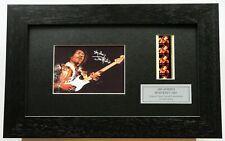 More details for jimi hendrix signed reprint + 35mm concert cells original filmcell memorabilia
