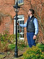 USED Ex-Display Cast Iron and Steel Garden Lamp Post Set Period Light - 2.2m