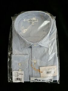 Peter Millar Summer Comfort Button Front Shirt Cottage Blue Men's L NWT $135