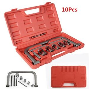 10pcs Valve Spring Compressor Kit Remove & Compress Tool For Cars Van Motorbikes